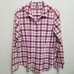 J. Jill | Red White Plaid Button Down Shirt S